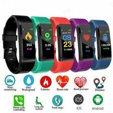 Smart Watch Bracelet Heart Rate Blood Pressure Monitor Fitness Tracker ID115Plus