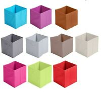 Non Woven Fabric Storage Box Cube Toy Magazine Bookcase Shelf Basket 31x31x31cm