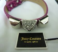 New Juicy Couture Pyramid Pink Leather Bracelet, Strap