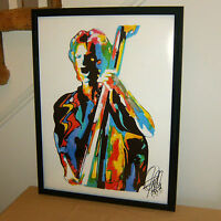 Sting The Police Singer Bass Guitar Pop Rock Music Poster Print Wall Art 18x24