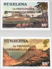 ST HELENA 1982 365-66 376-77 1st participation Commonwealth Sport Games ovp MNH