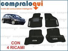 TAPPETI PER SEAT LEON 2 (2005>) TAPPETINI PER AUTO SU MISURA + 4 RICAMI TOP