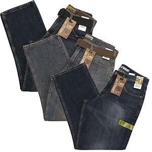Lee Dungarees Mens Jeans Loose Straight Jeans Green Tag Medium Dark New
