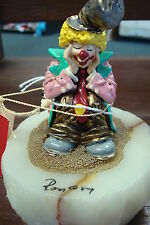 RON LEE WORLD OF CLOWNS 1989 #C89 CLOWN SITTING WITH HEAD IN HANDS
