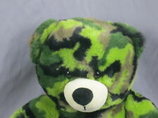 Big Build A Bear Camouflage Print Army Green Black Brown Plush Stuffed Animal