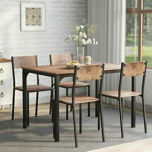 Dining Table and Chairs 4 2 Seater Solid Wood Room Kitchen Furniture Dining Set