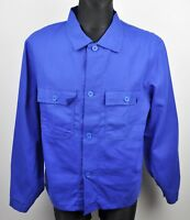 Brand New FRENCH WORKER Men's Medium Blue Over Shirt Jacket Thick Cotton Work M