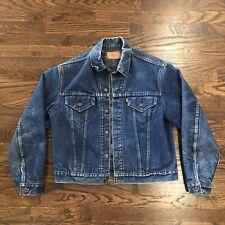 Vintage LEVI'S Blue Denim Trucker Jean Lined Jacket Sz 42 | 70505 0317 Small e
