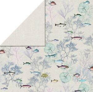 Fab Scraps 12x12 scrapbooking paper Fish 2  x 2 sheets