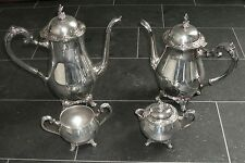 Antique Silver Plate Tea Set - Oneida - USA