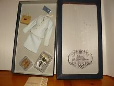 Franklin Mint Princess Diana Vinyl Doll Blue Suit Ensemble