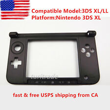 New 3DS XL Replacement Hinge Part Black Bottom Middle Shell/Housing for Nintendo
