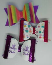 """4"""" Plastic Double Hair Bow Template Make Your Own Glitter fabric Bows"""