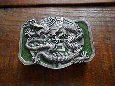 pewter belt buckle - oriental dragon - pewter belt buckle Siskiyou NEW