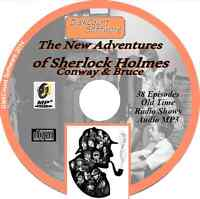 The New Adventures of Sherlock Holmes - Conway & Bruce 38 Old Time Radio MP3 CD