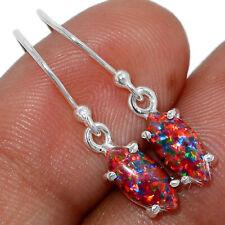 Fire Opal 925 Sterling Silver Earring Jewelry AE159791