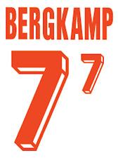 Holland Bergkamp Nameset 1992 Shirt Soccer Number Letter Heat Print Football A