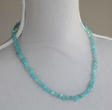 SKY BLUE APATITE NECKLACE ~ 925 STERLING SILVER 20""