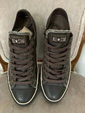 Converse All Star Ox Mono Brown Leather Size 9 UK Low Top Trainers