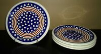 "(4) Boleslawiec AMERICANA 11"" Dinner Plates  POLAND"