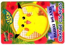 PROMO POKEMON BANDAI STICKER 1999 ORANGE ISLANDS #04 PIKACHU