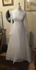 Vintage années 1970 robe de mariage Taille 10