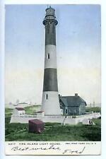 1905 FIRE ISLAND LIGHT HOUSE*SHIPS*NAUTICAL*PATCHOGUE NY*ANTIQUE POSTCARD