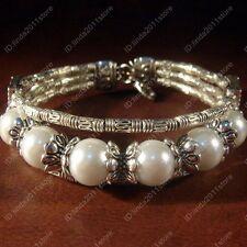 Handmade Tibet Tibetan Silver Ladies Lucky Beads Fashion Bracelet Bangle NO.91