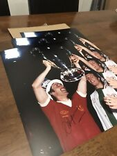 Steve HEIGHWAY signed 16x12 1977 European Cup Trophy Lift Photo Liverpool FC