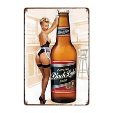 Metal Tin Sign carling black label  beer Bar Pub Home Vintage Retro Poster Cafe