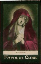 MADONNA TOBACCO CARD, FAMA DE CUBA CIGARETTES VENEZUELA CIRCA 1910