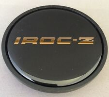 1985 1986 1987 Chevy Camaro IROC-Z Wheel Center Hub Cap Black w/ Gold IROCZ