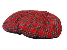 Grand coton tartan rouge chien, chat, lit coussin pour fond de panier uk made