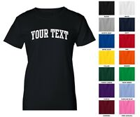 Custom Personalized Women's T-shirt, Choose Text Front Only, ARCHED TEXT