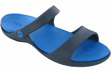 Crocs Women's Cleo Slide Ankle Strap Light and Waterproof Uk5 Navy/ultramarine