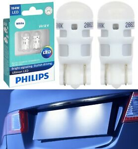 Philips Ultinon LED Light 194 White 6000K Two Bulb License Plate Tag Replace OE