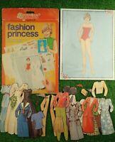 Vintage 1982 Remus Play Kits FASHION PRINCESS Dress Up Cards Rare Diana