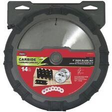 Mibro 416381 8-Inch Stacking Dado Carbide Tipped Blade 14 Pc Set +Storage *NEW*