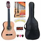Starterset 3/4 Akustik Gitarre Konzertgitarre Klassikgitarre Saiten Tasche Noten for sale
