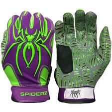 Web Tac Palm Spiderz HYBRID Batting Gloves-Purple/Neon Green XXL