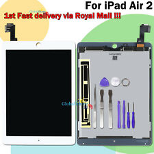For iPad Air 2 A1566 A1567 LCD Touch Screen Digitizer Display White Assembly UK