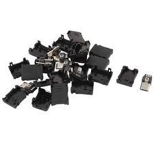 10pzs 5 pines Conector clavija macho de tipo B micro USB Cubierta plastica P7