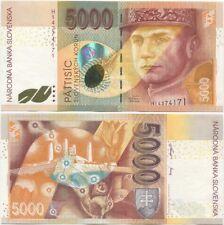 Slovakia 5000 Korun 1999 UNC P-33, scarce, Prefix H