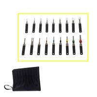 18PCS  Car Wire Terminal Removal Tool Wiring Connector Pin Extractor Puller +Bag