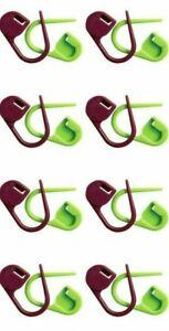 KnitPro Locking Plastic Stitch Markers 30 Pack Purple & Green 10805