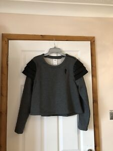 NEW LADIES DISNEY STORE INCREDIBLES VERA MODE TOP / SWEATSHIRT- UK M BNWT CROP