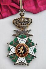 Belgique: Ordre de Léopold, croix de commandeur en vermeil, à titre militaire