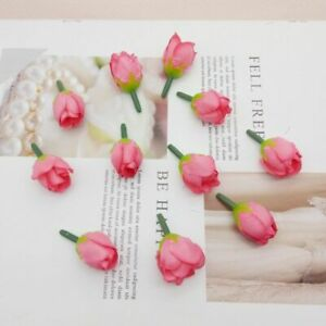 Mini Buds Wedding Silk Flowers Rose Centerpieces Roses Artificial Flower 100pcs