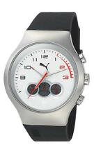 PUMA Motorsports Red Zone Chrono Silver White Men's Watch PU102791005 Analogue