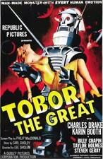 Tobor The Great Vintage Sci-Fi Robot Movie Poster Rolled Canvas Giclee 24x36 in.